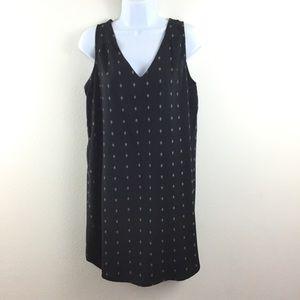OLD NAVY BLACK PRINT V-NECK TUNIC DRESS